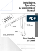 GORBEL Freestanding Jib Crane - Manual