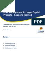 Lessons Learned Privind Managementul Riscurilor in Proiecte Investitionale de Anvergura