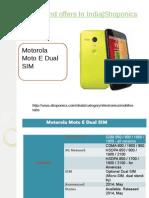 Motorola E Dual SIM