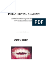 open bite / orthodontic courses by Indian dental academy