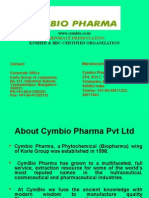Corporate Presentation of Cymbio Pharama