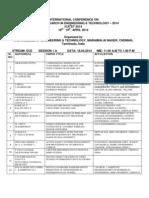 Icaret 2014 Schedule Ece
