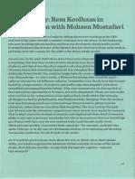 Koolhaas, Rem - On Pedagogy (Conversation With MMostafavi)