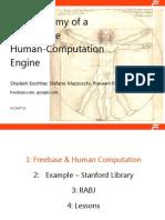 Anatomy of Large-Scale Human-Computation Engine