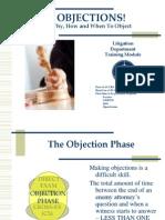 TrainingTraining Module Objection (17 April-08 Module Objection (17 April-08)-Legal Advantage