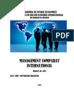 Curs Management Comparat