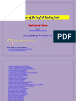 Collection of the English Reading Texts