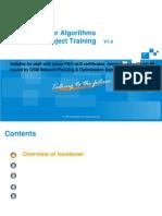 GSM P&O Training Material for Special Subject-Handover AlgorithmsV1.4