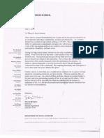 letter of rec disalv