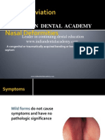Septal Deviation / orthodontic courses by Indian dental academy