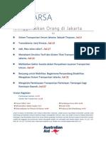Jurnal Prakarsa Infrastruktur Indonesia Edisi 17/April 2014. Menggerakkan Orang di Jakarta