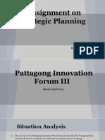 Strategic Planning - Pattagong