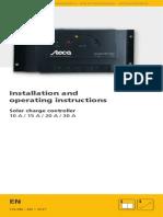 Steca Solarix PRS Instruction English - Uputstvo Solarni paneli