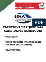 Candidates Handbook - Uni of York GSA Elections May 2014