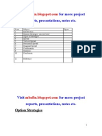 Project on Option Strategies