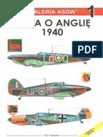 """(Seria """"Galeria Asów"""" No.1) Bitwa o Anglię 1940"""