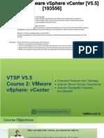 VTSP 5.5. Course 2 VMware vSphere vCenter