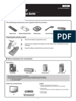 RX-V367 Quick Reference Guide