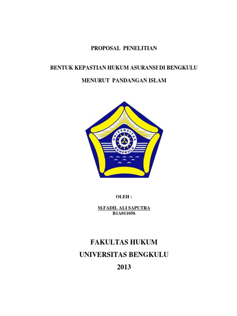 Proposal Penelitian Hukum