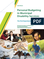 Personal Budgeting in Municipal Disability Services