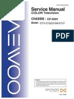 Daewoo Chassis Cp 520v Dtx 21g2, 21b4, 21u7
