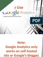 John_Kuizon_How to Use Google Analytics