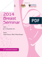 CoR 2014 Breast Seminar Second Announcement