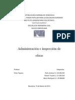 Administracion e Inspeccion de Obras