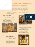 Solemn High Masses - Diocese of Madison