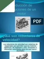 Reducción de Revoluciones de Un Motor