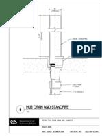 Hub Drain and Standpipe Detail