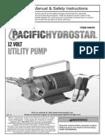12v Water Pump Manual