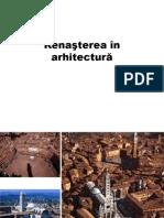 Renasterea in Arhitectura