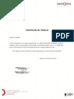 Certificado de Juan Galindo