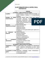 Oferta Temática de Formación Para El Control Fiscal Participativo