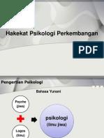 1-Hakekat Psikologi Perkembangan PAUD