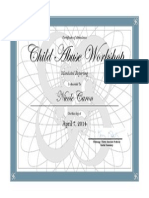 caron child abuse workshop certificate
