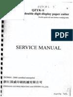 Manual Ghilotina Qzyk-s Guowei 78