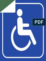 Cadeirante Placa 11x11cm