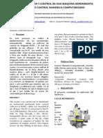 Computer Numeric Control Machine - A. Mosaja; e. Ampuero