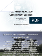 Post Accident AP1000 Containment Leakage