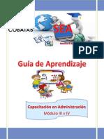 Guia de Aprendizaje Administración Submodulo III y IV