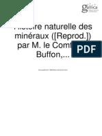 Buffon, Minéraux II