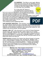 Sunday, May 18, 2014 Bulletin