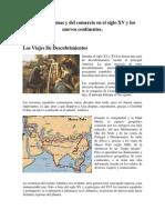 Rutas Marítimas y Del Comercio en El Siglo XV y Los Nuevos Continentes