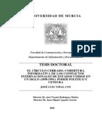Censura y Poder Político (José Luis Vidal Coy) (Tesis Doctoral)