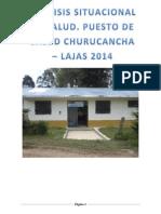 ANALISIS SITUACIONAL DE SALUD. PUESTO DE SALUD CHURUCANCHA – LAJAS 2014