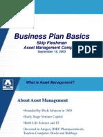 Bisnis Plan Basics 2004