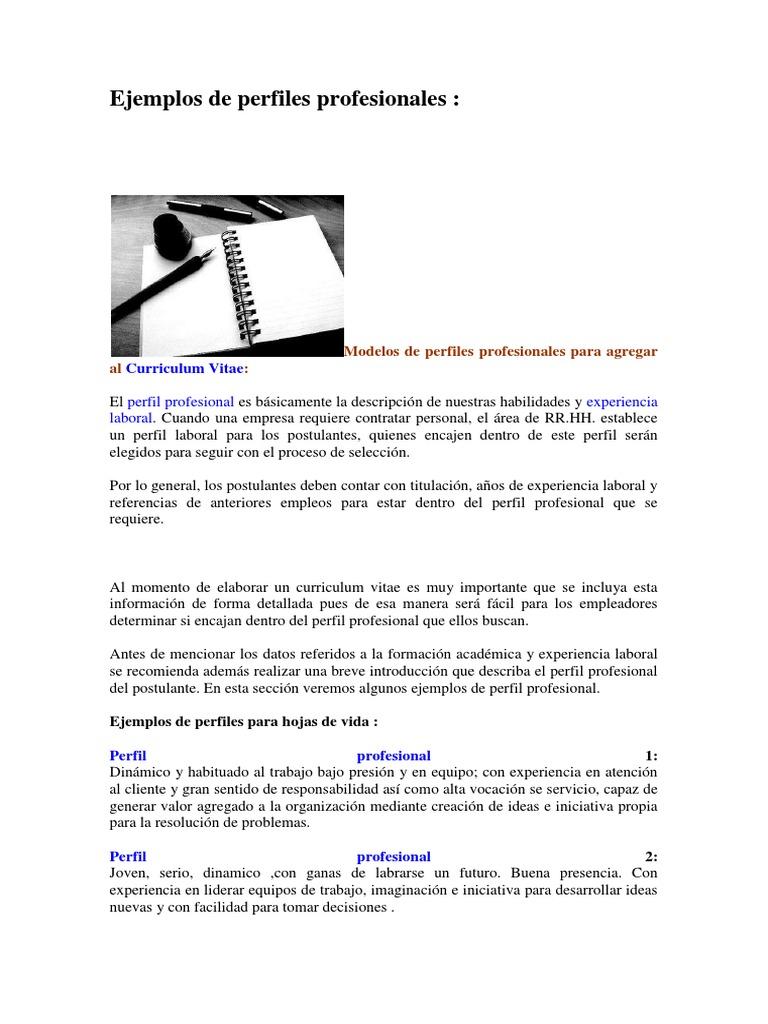 Vistoso Profesionales Reanudar Patrón - Ejemplo De Colección De ...