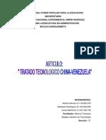 Tratado Tecnológico China y Venezuela